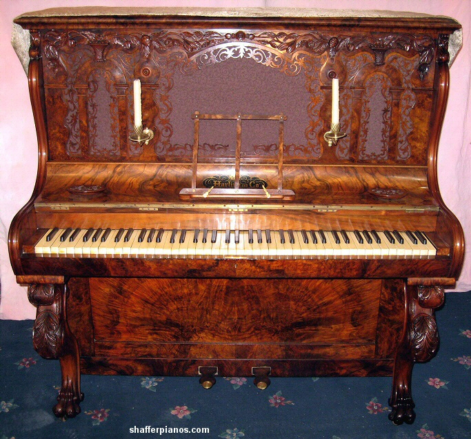 Ornate Piano British Victorian Shaffer Pianos